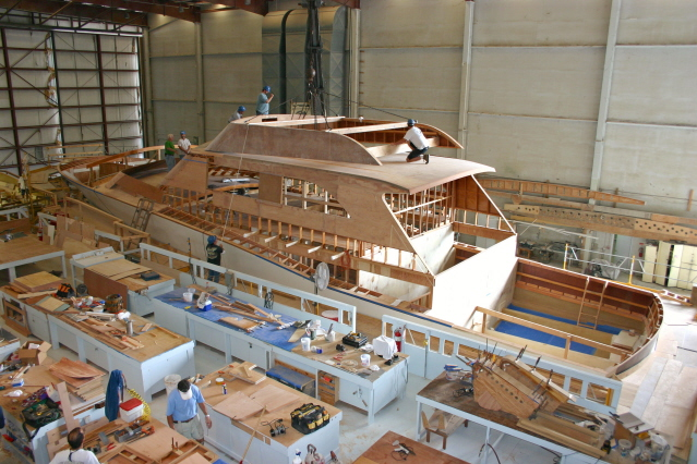 Classic wood motor yachts for sale, how to build a plywood drift boat, yacht building process ...